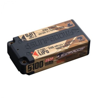 SUNPADOW 5100mAh-2S2P-7.4V-100C/50C LiPo Battery Shorty pack [573448]]